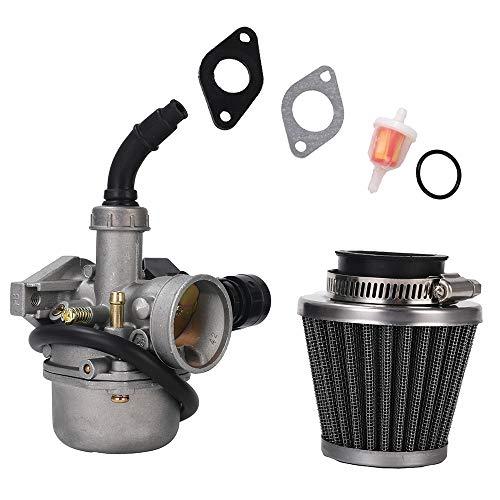 ATV PZ19 Carburetor with 35MM Air Filter Cable Choke,19mm Carburetor carb for 50cc 70cc 80cc 90cc 110cc 125cc ATV Dirt Pit Bike Taotao Honda CRF By LIAMTU