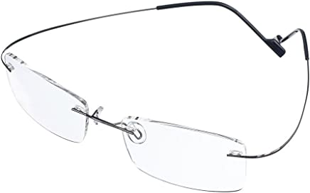 8d00077cd23 Rongchy Super Light 100% Titanium Working Reading Glasses +2.00 Men Women  Fashion Rimless Reading