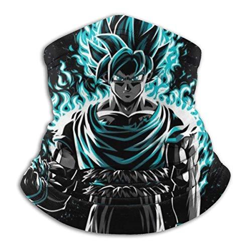 Classic Dragon Ball Z Goku Ultra Instinct Flames Unisex Microfibra Cuello Calentador Cara Mas-k Bandanas al aire libre Multifuncional Bufanda Cuello Polaina Pasamontañas