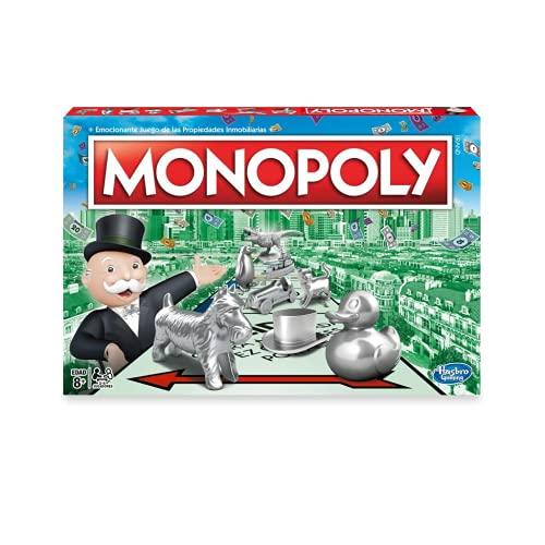 Juego Monopoly, Juego de Mesa clásico para la Familia de 2 a 6 Jugadores, para niños a Partir de 8 años