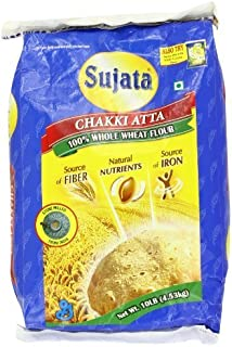 Sujata Chakki Atta, Whole Wheat Flour, 10-Pound Bag by Sujata
