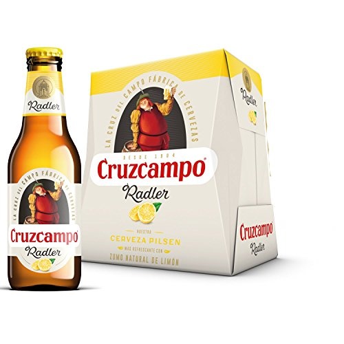 Cruzcampo Radler Limon Beer - Pack of 6 Bottles x 250 ml - Total: 1.5 L