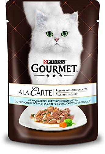 PURINA GOURMET A la Carte Katzenfutter nass, mit Hochseefisch, Reis und Gemüse, 24er Pack (24 x 85g)