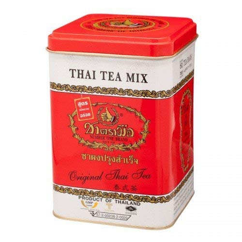 Number-One Brand Original Thai Tea Mix Red Label, 4g x 50 Tea Bags