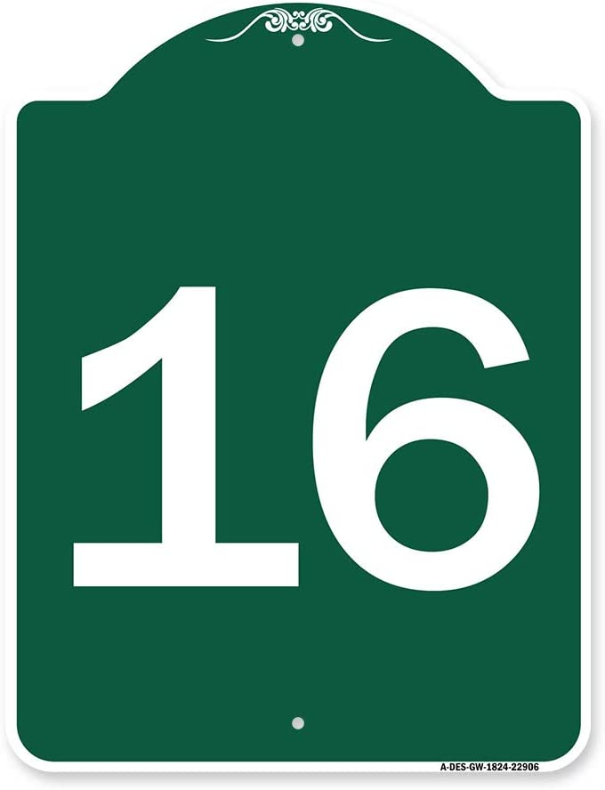 SignMission Designer Free Shipping Cheap Bargain Gift Series Sign - Number with Max 66% OFF '16 Green