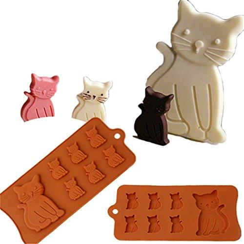 VWH Silicone Moule a gateau Moule au chocolat Moule a la gelee Decorations de gateaux En forme de chat