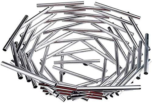 CHNGP Mooi plat fruit gemaakt van roestvrij staal Plat gemaakt van roestvrij staal Modern en creatief plat fruit (vogelnest) (kleur: zilver)