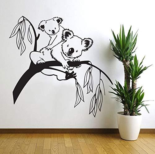 Adhesivo de pared, 60x62 cm, hermoso árbol de alta calidad con ramas de oso Koala, bebé, guardería, habitación, calcomanía de pared, decoración artística, mural de vinilo para niños, adhesivo para