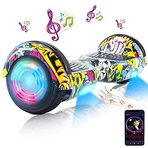 Hoverboard, Hoverboard Premium de 6.5 '- Altavoz Bluetooth - Potente Motor Dual - LED - Patineta eléctrica Self Balance Scooter (Baile Callejero)