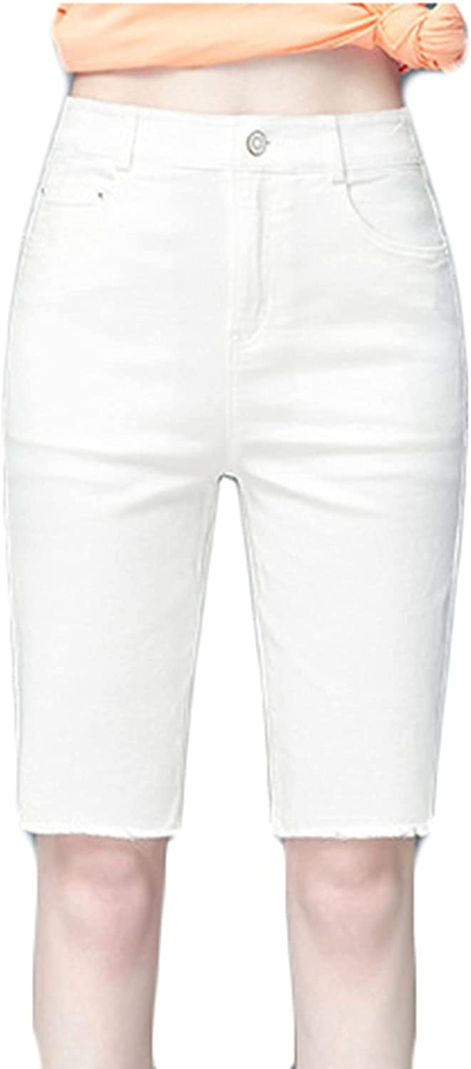 Courier shipping free shipping Womens Denim Five-Point Shorts Anti-Fading S Wild Wearable Style High quality