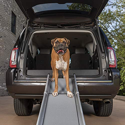 PetSafe Happy Ride Compact Telescoping Dog Ramp - Portable Lightweight Pet Ramp - Great for Cars,...