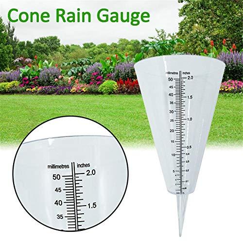Rich-home Pluviómetro Exterior cónico para la medición de Jardines al Aire Libre Fashionable