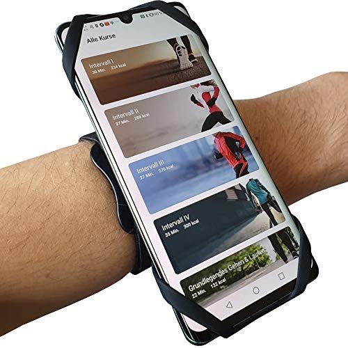 MYNE 3in1 Sportarmband 360°Run für Smartphones 4,5'-6,5' - für Joggen, Fahrradfahren - Universal Armband für Alle Gängigen Handys - Schweißfest, 360° Drehbar, Federleicht