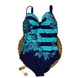 Fuba.VI 2019 - Conjunto de trajes de baño sexy para mujer, cuello halter/sin tirantes, conjunto de bikini alto 69806verde