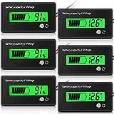3 Monitores de Capacidad de Batería LCD Indicadores de Voltaje de Capacidad de Batería Medidores de Batería para Coche y Motocicleta con Alarma para Carro de Golf RV Barco Marino (Verde)