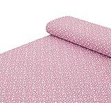 Nadeltraum Baumwoll - Musselin Stoff Regentropfen in pink -