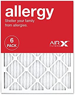 AIRx ALLERGY 20x25x1 MERV 11 Pleated Air Filter - Made in the USA - Box of 6