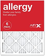 AIRx ALLERGY 20x25x1 MERV 11 Pleated Air Filter – Made in the USA – Box of 6