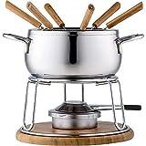 Style'n Cook Charlotte Fondue Set 11tlg, Edelstahl/Holz, 18 cm