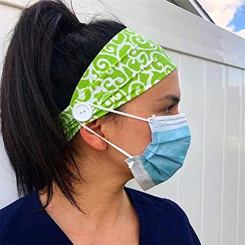 Renoble - Cinta para la cabeza, antitightening, soporte para máscara, para proteger las orejas, para yoga, deportes, entrenamiento diario