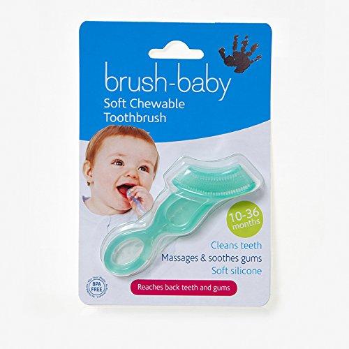 Brosse à dents douce à mâcher pour bébé Vert/bleu sarcelle