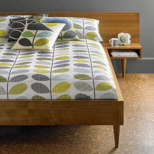 ORLA KIELY Scribble STEM Duck Egg Blue Green 100% Cotton 200TC Single Duvet Cover