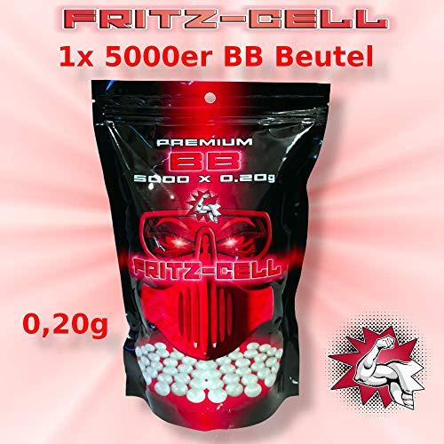 WEILAX Airsoft Softair Kugeln Fritz-Cell Premium BBS 6 mm 0,20g Beutel 5000 Stück