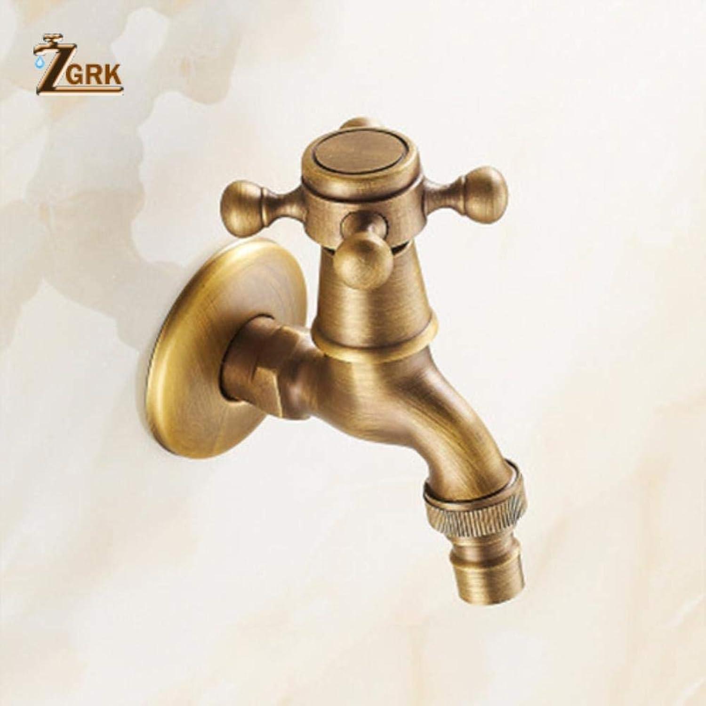 ZGRK Vintage Antique Brass redary Single Level Single Hole Kitchen Sink Mixer Tap Bathroom Sink Mixer Taps bathroom furniture fitting A-081