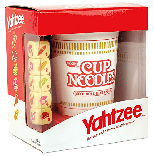 YAHTZEE Cup Noodles | Collectible Yahtzee Game Made to Look Like Iconic Ramen Meal with Custom Dice | Travel Yahtzee Game & Dice Game