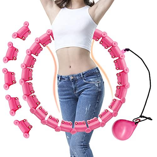 PeroBuno Smart Hula Hoop Reifen Erwachsene, Hoola Hoop, Hullahub Reifen zum abnehmen, 24 Abnehmbare Teile, Fällt Nicht51-130cm verstellbar, für Anfänger