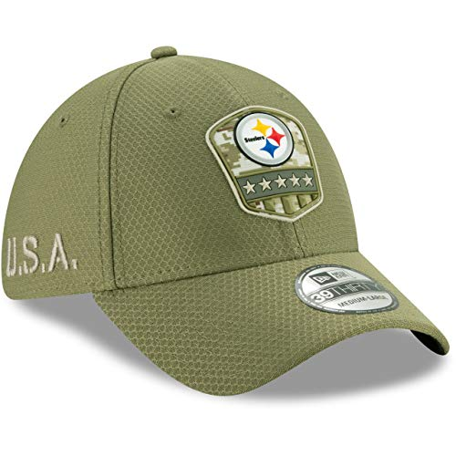New Era 39Thirty Cap Salute to Service Pittsburgh Steelers -