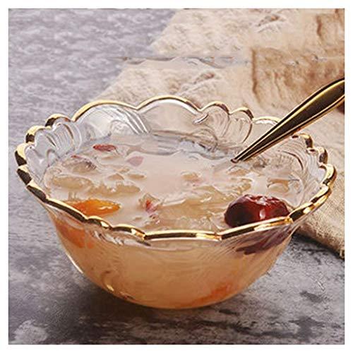 ZLININ SMC Bowl nido de pájaro tazón de postre tazón de fuente de cristal de alto grado Phnom tazón de vidrio estilo europeo hogar 5 pulgadas -12,3 x 5,2 cm