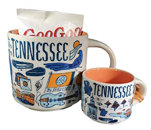 Starbucks Tennessee Been There Series Coffee Mug, Ornament Demitasse Mug and Goo Goo Clusters Original Candy - Bundle
