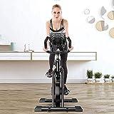 YAJIAN Bicicleta de ciclismo Spinning Bicycle, bicicleta de gimnasia ultra tranquila y entrenador de AB, SpeedBike con sistema de accionamiento de cinturón bajo, gimnasio para el hogar Equipos de apti