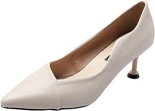 [qkeusf] パンプス ハイヒール レディース 7cm ヒール ポインテッドトドレス ピンヒール 走れる 脚長効果 ベーシック成人式 フォーマル 痛くない PU 通勤用 デイリー
