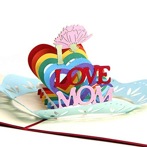 xiamenchangketongmaoyi grußkarten pop up Karte Frau Geburtstagskarte Glückwunschkarten Jubiläumsgeschenke für Mama und Papa Popup-Karte Mutter Geburtstagskarte