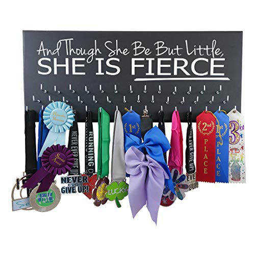 All Sports Medal Holder - and Though SHE BE BUT Little, SHE is Fierce - Swimming - Running - Gymnastics - Soccer - Cheerleading - Wrestling