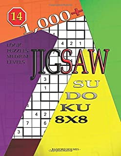 1,000 + sudoku jigsaw 8x8: Logic puzzles medium levels (Jigsaw sudoku)