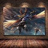 Carte Affiche peinture sur toile Mur Art Stickers Muraux Jeu Affiche Carte Du Monde...