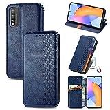Bear Village Hülle für Huawei Honor 10X Lite, PU Leder Flip Handyhülle für Huawei Honor 10X Lite, Brieftasche Schutzhülle mit Standfunktion & Kartenfächer, Blau