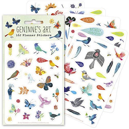 Geninne's Art Planner Stickers (6 unique sheets, 162 stickers)