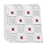SQINAA 3D Panneaux Muraux Peler et Coller Papier Peint Panneaux Muraux en Brique pour Salon Chambre Fond Décoration Murale 10 Pack Panneaux Muraux en Brique (10 PCS),Rouge