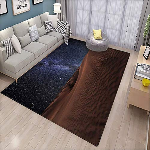 Space Fluffy Rugs Desert Lunar Life on Mars Patio Door Floor mat Non-Slip Decoration