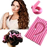 MAHEK ACCESSORIES Foam Twist and Turn Hair Roller Set - Pack of 10 Pieces (Multicolour)