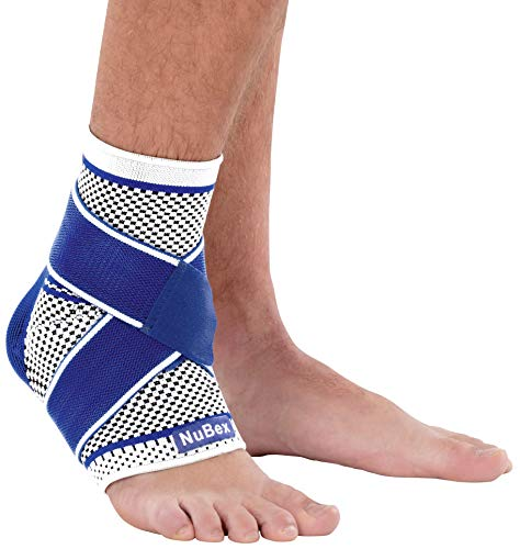 Nutrics | Aktiv Fußbandage | Sprunggelenkbandage | Damen und Herren | Funktionspolster und Gurtsystem (L (Größe))