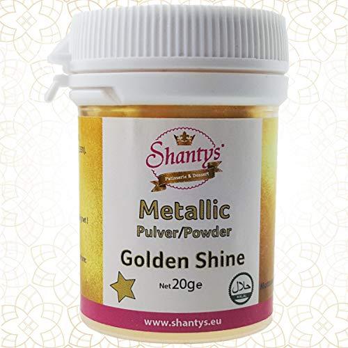 Metallic Pulver GOLDEN SHINE - 20 g - 100 % essbar Lebensmittel Glanzpulver SHANTYS