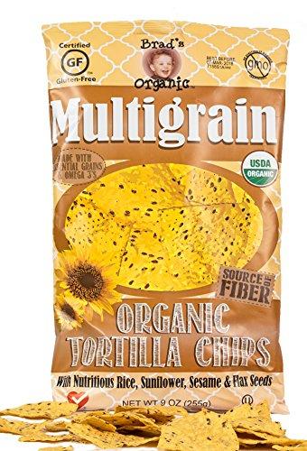 Brad's Organic Tortilla Chips, Multigrain, 8 Ounce