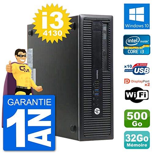 HP PC EliteDesk 800 G1 Core i3-4130 RAM 32 GB Disco Duro 500 GB Windows 10 WiFi (reacondicionado)