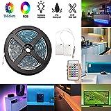 LED Ruban 5M / 16.4ft, Bande Lumineuse Rope LED Imperméable à l'eau avec éclairage...