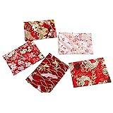 5 piezas de tela de algodón de estilo japonés, tela floral de tela de corte de...
